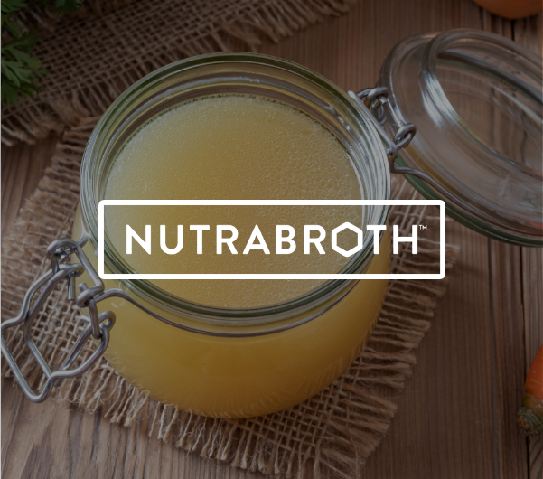 "A jar of yellow liquid with ""Nutrabroth"" overlaid."