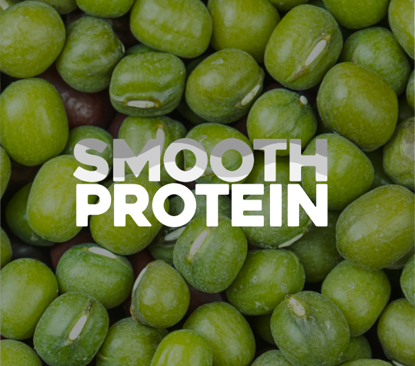"Mung beans with ""Smooth Protein"" overlaid."